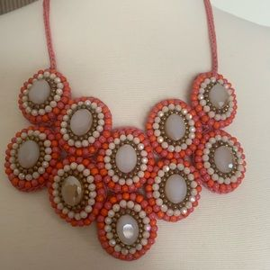 Jewelry - Gorgeous coral beaded statement necklace